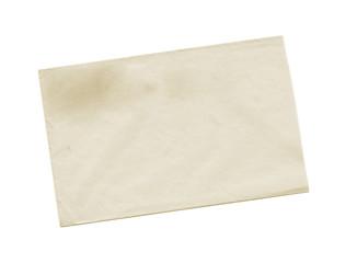 Yellow envelope backside isolated on white