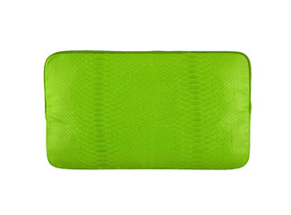 Green wallet isolated on white