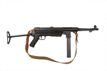 MP38/40 submachine gun on white background