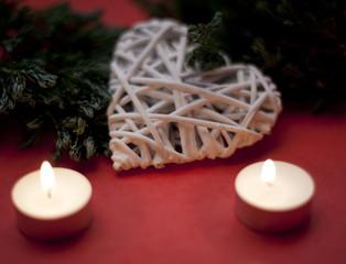 décoration de Noël saint Valentin coeur