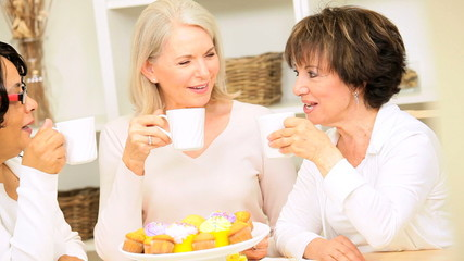 Retired Girlfriends Coffee and Cake with Gossip
