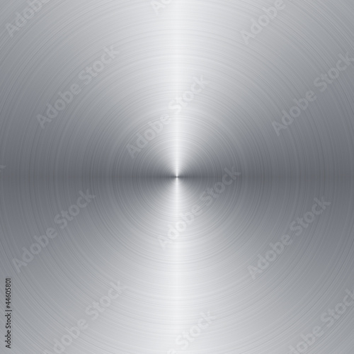 Radial brushed metal background with copy space - 44605801
