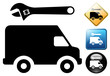Van repair pictogram and icons
