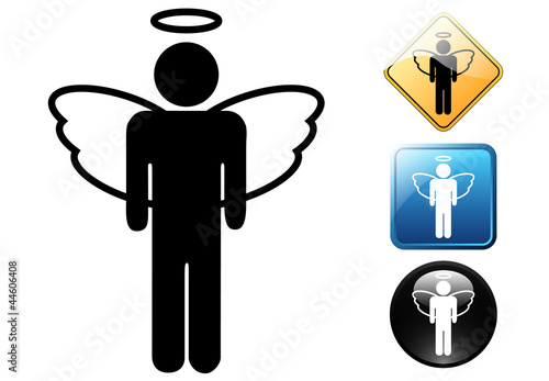 Angel male pictogram and icons