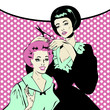Vintage retro woman Hairdressing - Retro poster