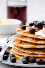 Homemade pancakes with blueberry