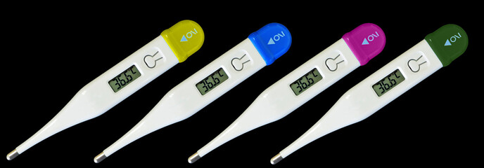 thermometer  digital many