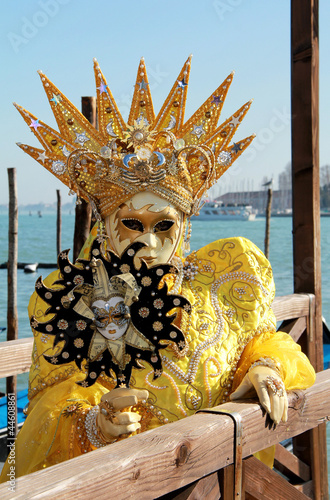 Venice mask portrait