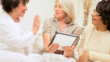Older Girlfriends Wireless Tablet Online Entertainment