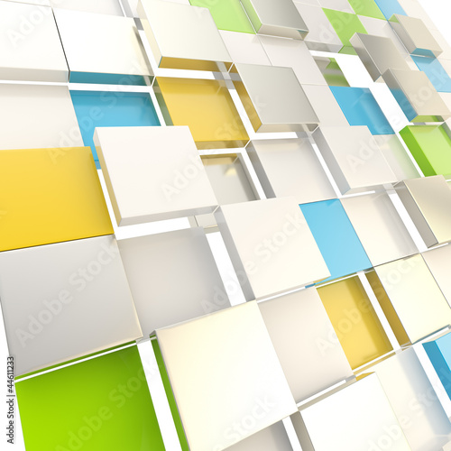 Cube abstract copyspace background