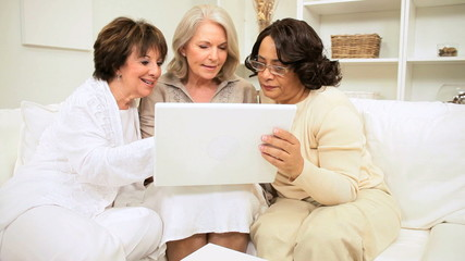 Retired Ladies Wireless Laptop Fun