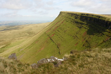 steep slopes in Brecon Beacons National Park