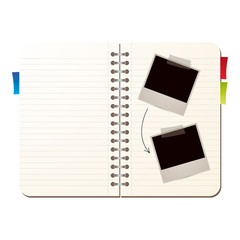 Agenda with photo frames