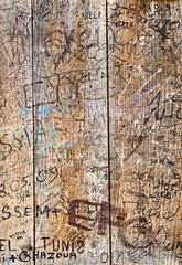 Wooden graffiti background
