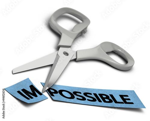 impossible vs possible, volonté et réussite