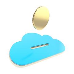 Cloud technology donation coin payment emblem