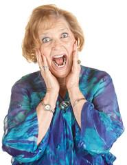 Frightened Elderly Woman