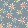 Retro Seamless Flower Background Pastel