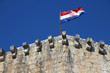 Flag of Croatia in Trogir castle