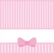 Vector card ori nvitation with sweet pink bow and place for text