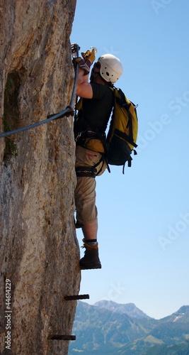 klettersteig - extreme sport in austria