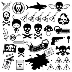 Set of danger icons