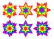 Rainbow kaleidoscope flowers