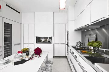 cucina moderna in laminato bianco