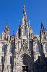 Cathedral of the Holy Cross and Saint Eulalia. Barcelona.