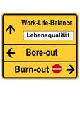 Schild Work-Life-Balance