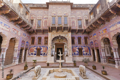 A frescoed Haveli in Fatehpur, Shekhawati