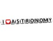 3D I Love Astronomy Button Click Here Block Text