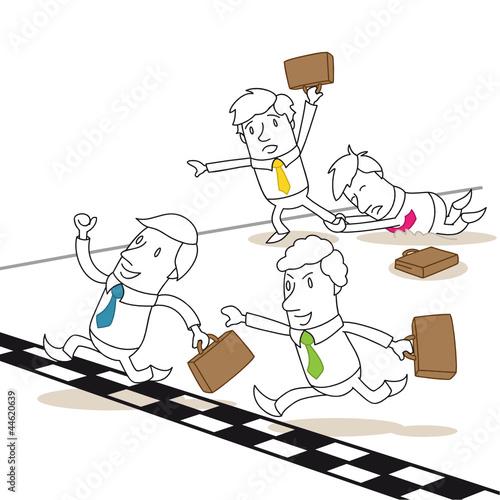 Geschäftsleute, Wettrennen, Ziellinie