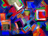 original hand draw abstract digital painting composition