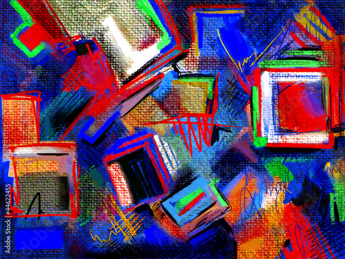 Zdjęcia na płótnie, fototapety na wymiar, obrazy na ścianę : original hand draw abstract digital painting composition