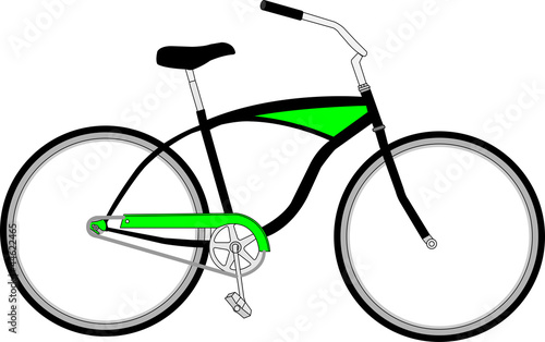 Beach cruiser illustration