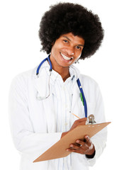 Happy black doctor