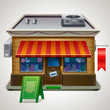 Illustration of small store.