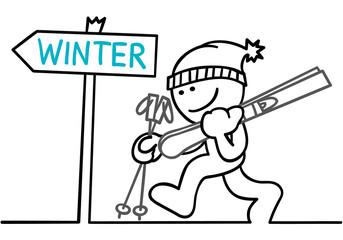 figur geht skifahren