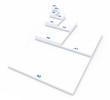 3D DIN Format Konzept A0 bis A8 - Weiß 01