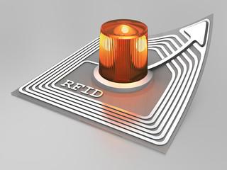 RFID chip with alarm light