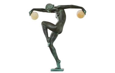 Art Deco Dancing Figurine with two Balls