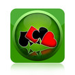 Gambling poker icon