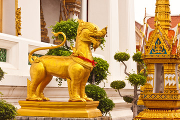 Golden dragon image in Thailand
