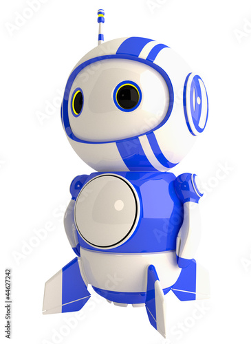 Cute Blue Robot