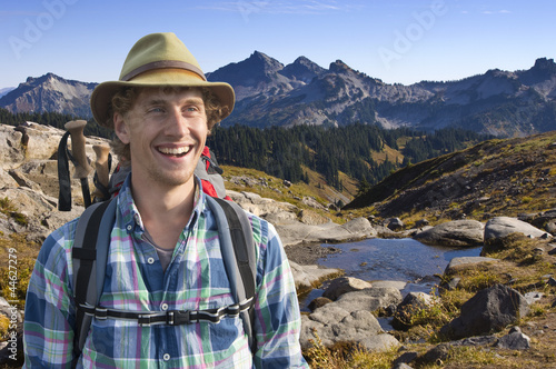 Smiling mountain guide