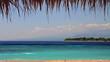 Island in turquoise sea loop