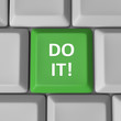 Do It Green Computer Keyboard Key Encouragement Words