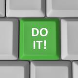 Do It Green Computer Keyboard Key Encouragement Words poster