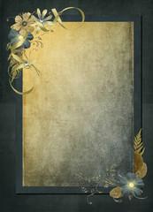 vintage textured frame